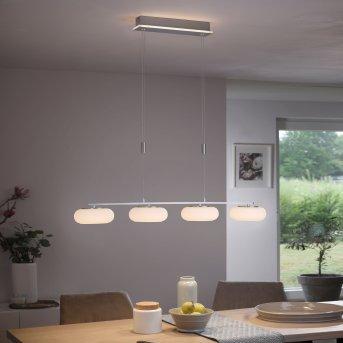 Paul Neuhaus Q-ETIENNE Pendelleuchte LED Stahl gebürstet, 5-flammig, Fernbedienung