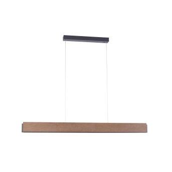 Paul Neuhaus PALMA Pendelleuchte LED Grau, Holz hell, 2-flammig, Fernbedienung
