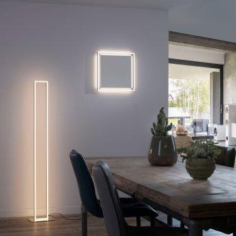 Paul Neuhaus Q-KAAN Stehleuchte LED Stahl gebürstet, 2-flammig, Fernbedienung