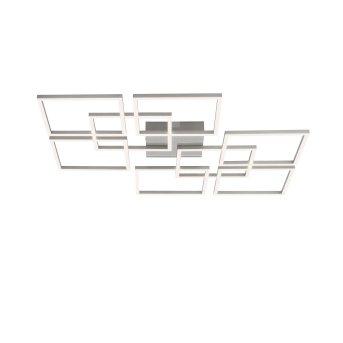 Paul Neuhaus Q-INIGO Deckenleuchte LED Stahl gebürstet, 7-flammig, Fernbedienung