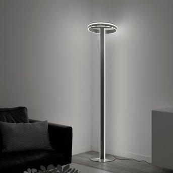 Paul Neuhaus Q-VITO Stehleuchte LED Stahl gebürstet, 3-flammig, Fernbedienung
