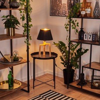 Magna Tischleuchte Schwarz, Naturfarben, 1-flammig