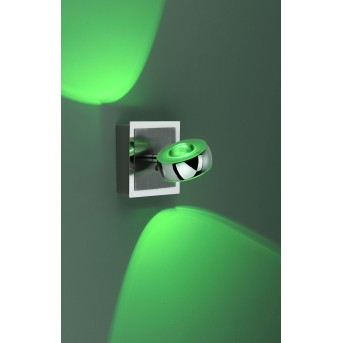Leuchten Direkt LOLA-OPTI Wandleuchte LED Edelstahl, 2-flammig, Fernbedienung, Farbwechsler