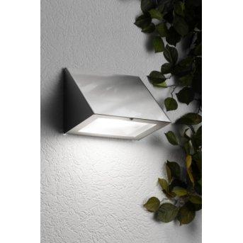 CMD Aqua Peso Wandleuchte LED Edelstahl, 1-flammig