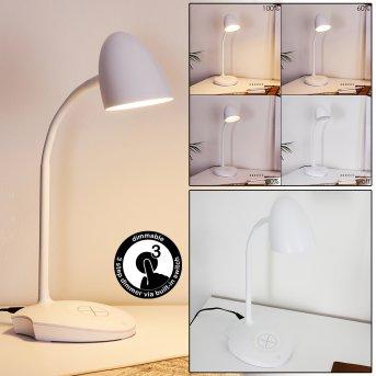 Grenoble Tischleuchte LED Weiß, 1-flammig