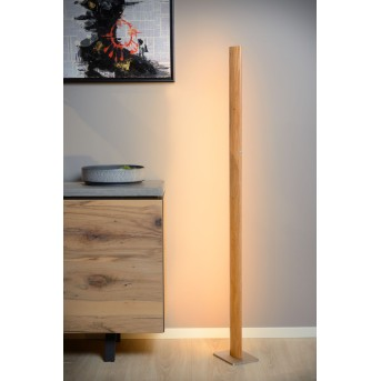 Lucide SYTZE Stehlampe LED Holz hell, 1-flammig