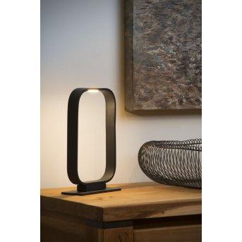 Lucide MIKA Tischlampe LED Schwarz, 1-flammig