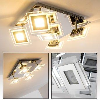Cerreto Deckenleuchte LED Chrom, 5-flammig