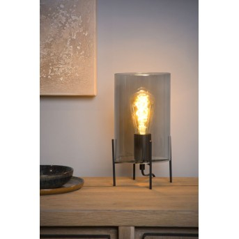 Lucide STEFFIE Tischlampe Schwarz, 1-flammig