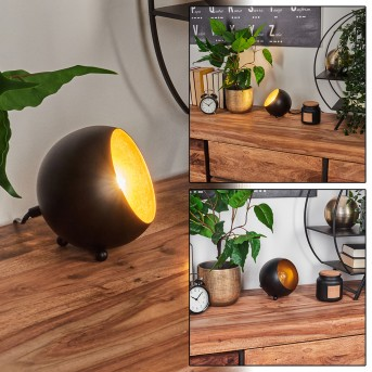 Hajo Tischleuchte Schwarz-Gold, 1-flammig