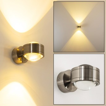 Wandleuchte Indore LED Nickel-Matt, 2-flammig