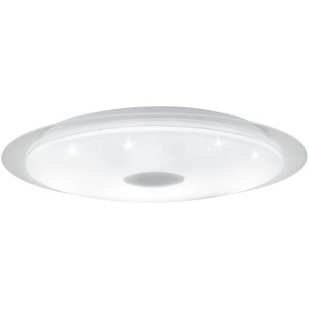EGLO MORATICA-A Deckenleuchte LED Weiß, Transparent, Klar, 1-flammig, Fernbedienung