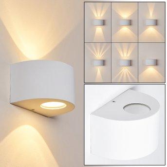 Windhoek Außenwandleuchte LED Weiß, 2-flammig