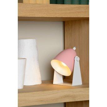 Lucide CHAGO Tischlampe Rosa, 1-flammig
