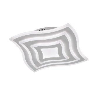 Fischer & Honsel function Gorden Deckenleuchte LED Weiß, 1-flammig, Fernbedienung