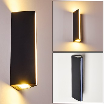 Rotterdamm Außenwandleuchte LED Schwarz, 1-flammig