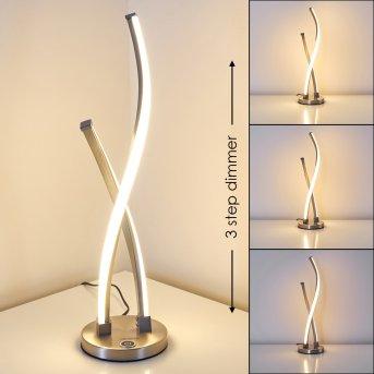 Tervo Tischleuchte LED Nickel-Matt, 2-flammig