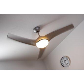 Globo PRIMO Ventilator Silber, Weiß, 2-flammig, Fernbedienung