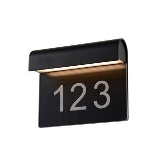 Lucide THESI Außenleuchte LED Schwarz, 1-flammig