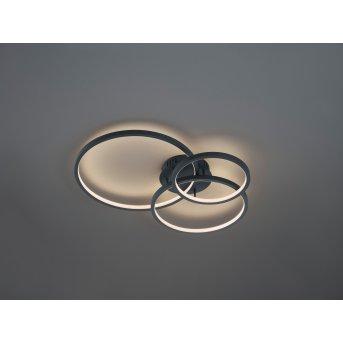 Trio Leuchten Aaron Deckenleuchte LED Anthrazit, 1-flammig, Fernbedienung, Farbwechsler