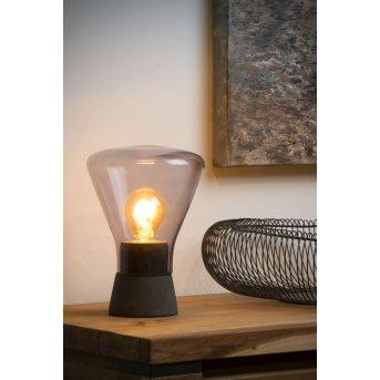 Lucide BARRY Tischlampe Grau, 1-flammig
