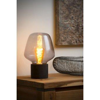 Lucide BECKY Tischlampe Grau, 1-flammig
