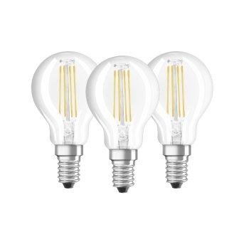 Osram LED 3er Pack E14 4,5 Watt 2700 Kelvin 470 Lumen