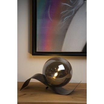 Lucide YONI Tischlampe Schwarz, 1-flammig
