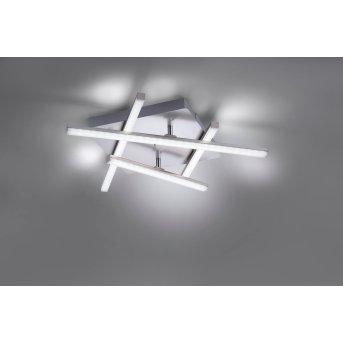 Leuchten Direkt LOLA-SIMON Deckenleuchte LED Edelstahl, 2-flammig, Fernbedienung, Farbwechsler