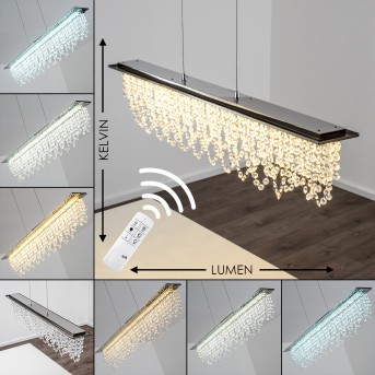 Pendelleuchte Slidre LED Chrom, 1-flammig, Fernbedienung