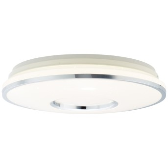 Brilliant Visitation Deckenleuchte LED Silber, Weiß, 1-flammig, Fernbedienung, Farbwechsler