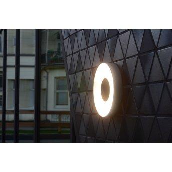 Lutec UBLO Außenwandleuchte LED Silber, 1-flammig