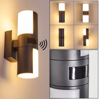 Baulund Außenwandleuchte LED Anthrazit, 1-flammig, Bewegungsmelder