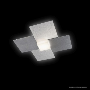 Grossmann CREO Deckenleuchte LED Aluminium, 1-flammig