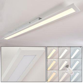 Ailik Deckenpanel LED Weiß, 1-flammig, Fernbedienung