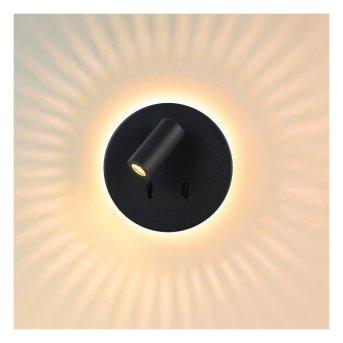Lucide BENTJER Wandleuchte LED Schwarz, 1-flammig