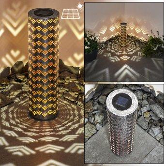 Parikia Solarleuchte LED Silber, Kupferfarben, 1-flammig