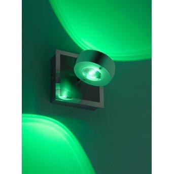 Leuchten Direkt Ls-OPTI Wandleuchte LED Edelstahl, 2-flammig, Fernbedienung, Farbwechsler