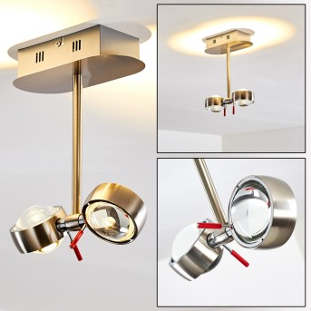 Florenz Deckenleuchte LED Nickel-Matt, 2-flammig