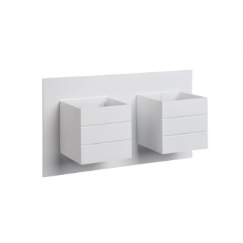 Lucide BOK Wandleuchte Weiß, 2-flammig