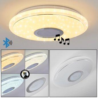 Auxerre Deckenleuchte LED Weiß, 1-flammig
