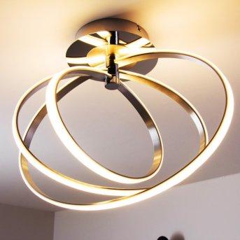 Trio Leuchten CORLAND Deckenleuchte LED Chrom, 1-flammig