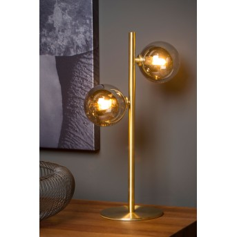 Lucide TYCHO Tischlampe Gold, 2-flammig