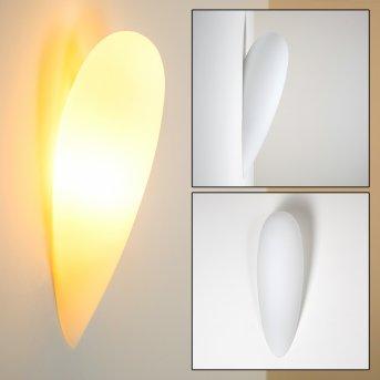 Wandleuchte Kubbe Weiß, 1-flammig