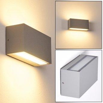 Duluth Außenwandleuchte LED Grau, 1-flammig