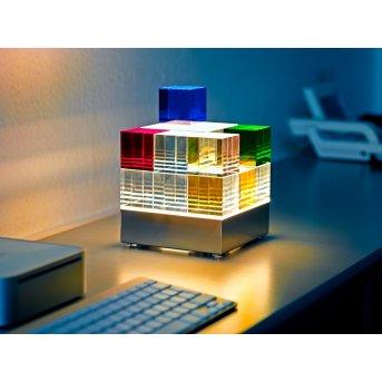 Tecnolumen Cubelight Tischleuchte LED Klar, Bunt, 1-flammig