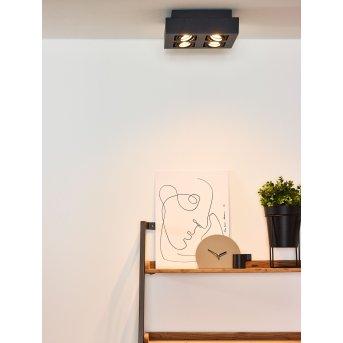 Lucide XIRAX Deckenspot LED Schwarz, 4-flammig