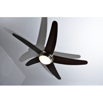 Globo FABIOLA Ventilator Nickel-Matt, Edelstahl, 1-flammig, Fernbedienung