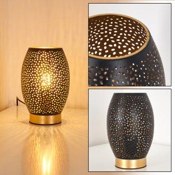 Saksborg Tischleuchte Schwarz-Gold, 1-flammig