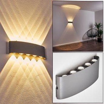Abaiang Aussenwandleuchte LED Silber, 10-flammig